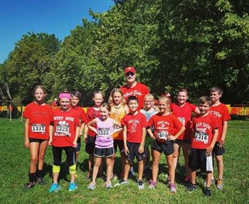 Mr. Wright with Running Club at first meet
